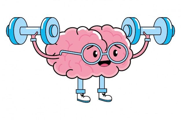 Premium Vector Cute Brain Cartoon