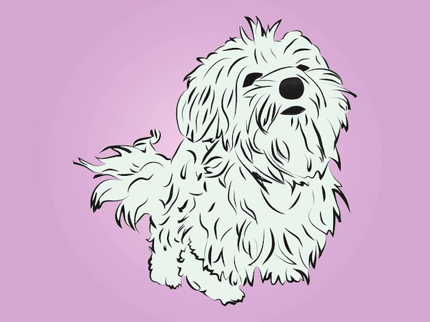 Cute breed dog cartoon animal