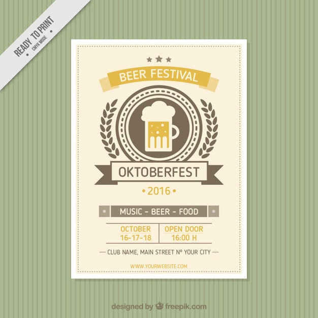 cute brochure of oktoberfest in vintage style