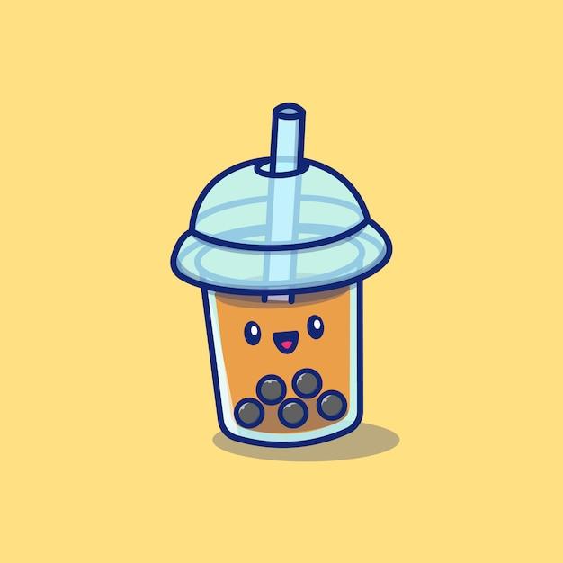 premium vector cute bubble tea boba milk cartoon icon illustration drink icon concept isolated https www freepik com profile preagreement getstarted 8882463