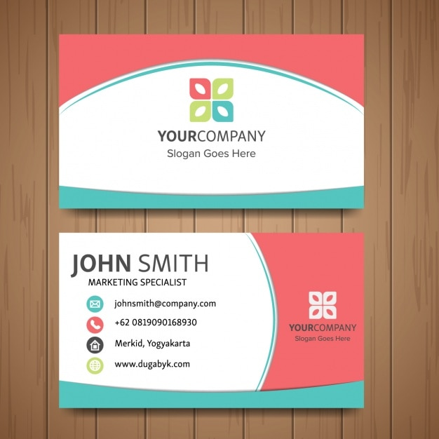 Cute Business Card Vector Free Download