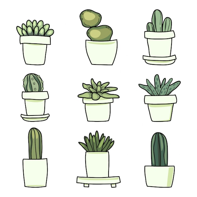 Premium Vector Cute Cactus Cartoon Set This hd wallpaper is about plant, windowsill, pot, succulent, cacti, aesthetic, house plants, original wallpaper dimensions is 6000x4000px, file size is 2.06mb. https www freepik com profile preagreement getstarted 6322950