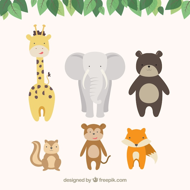 Cute cartoon animals vector free download cute cartoon animals free vector voltagebd Gallery