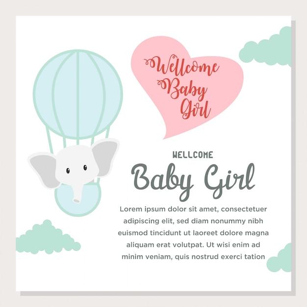 Cute cartoon baby shower and new born invitation card vector cute cartoon baby shower and new born invitation card premium vector stopboris Gallery