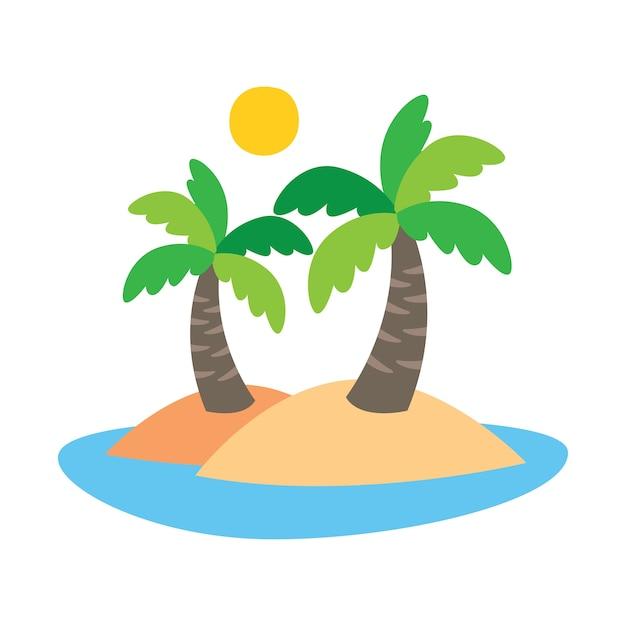 cute cartoon coconut tree on an island vector premium download rh freepik com iceland vector island vector photoshop
