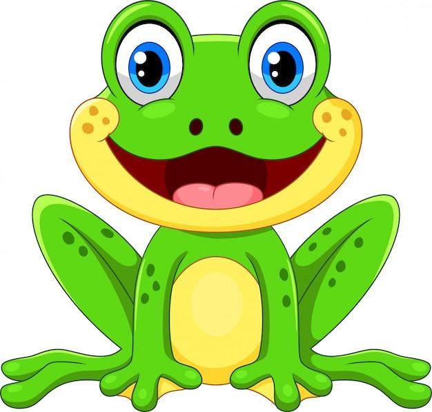 Premium Vector | Cute cartoon frog