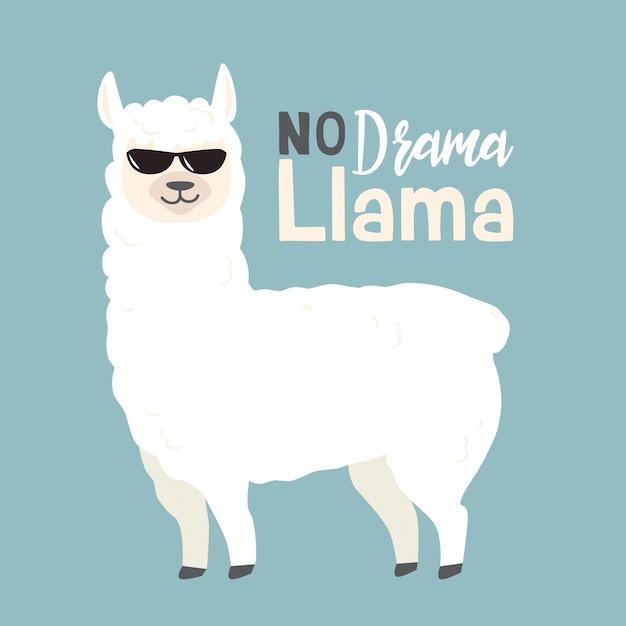 cute cartoon llama design vector | premium download