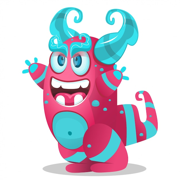 Cute cartoon monster for party decoration, Premium Vector