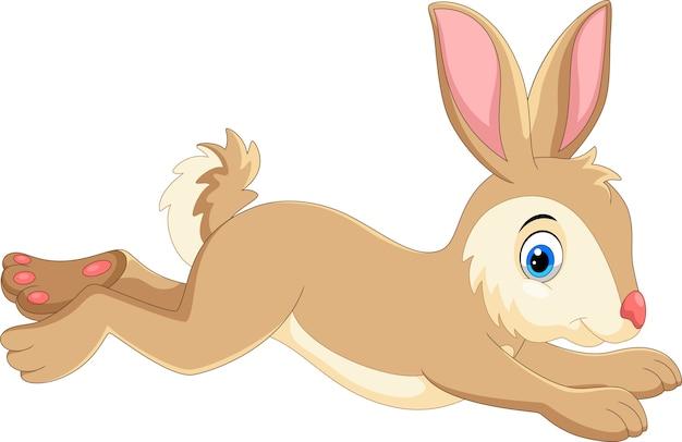 実行しているかわいい漫画のウサギ Premiumベクター
