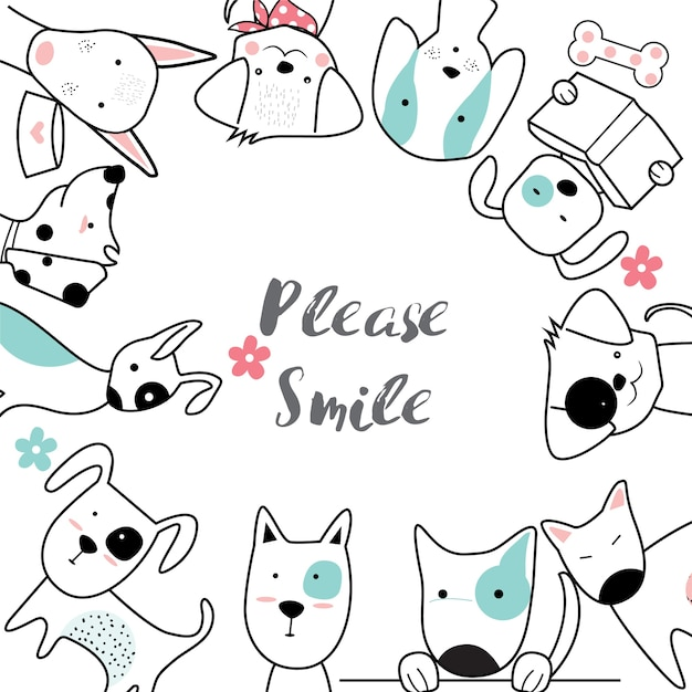 Cute cartoon sketch animal Premium Vector