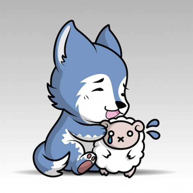 Cute cartoon wolf Vector | Premium Download - photo#4