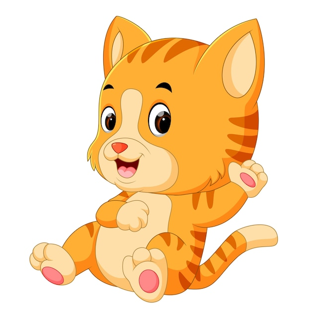 Cute Cat Cartoon Premium Vector