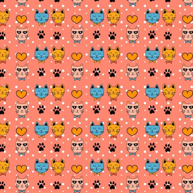 Милый кот персонаж шаблон вектор Premium векторы