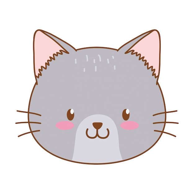 Cute cat woodland character Premium Vector