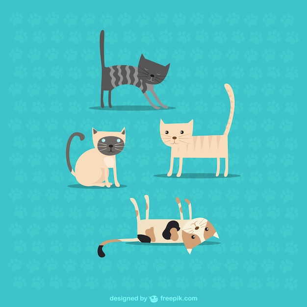Cute cats Free Vector