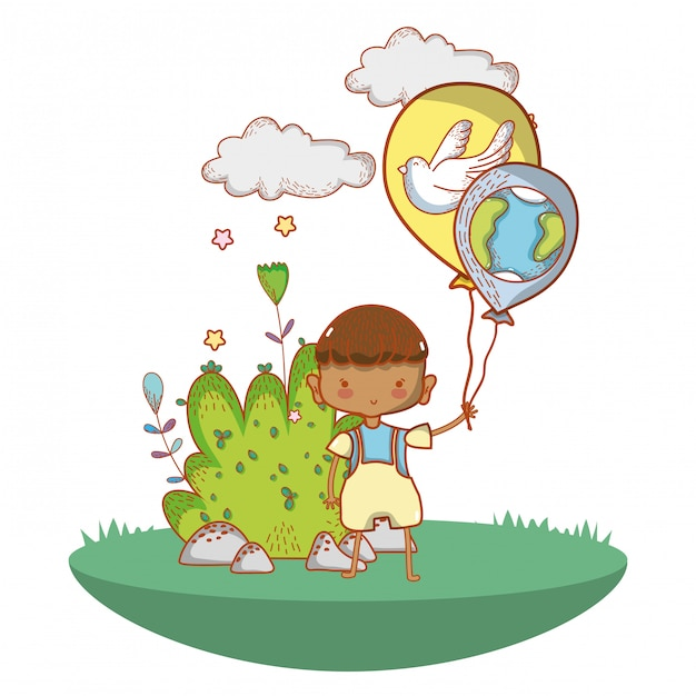 cute child cartoon premium vector