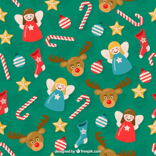 Christmas Backgrounds Cute.Cute Christmas Background Vector Premium Download