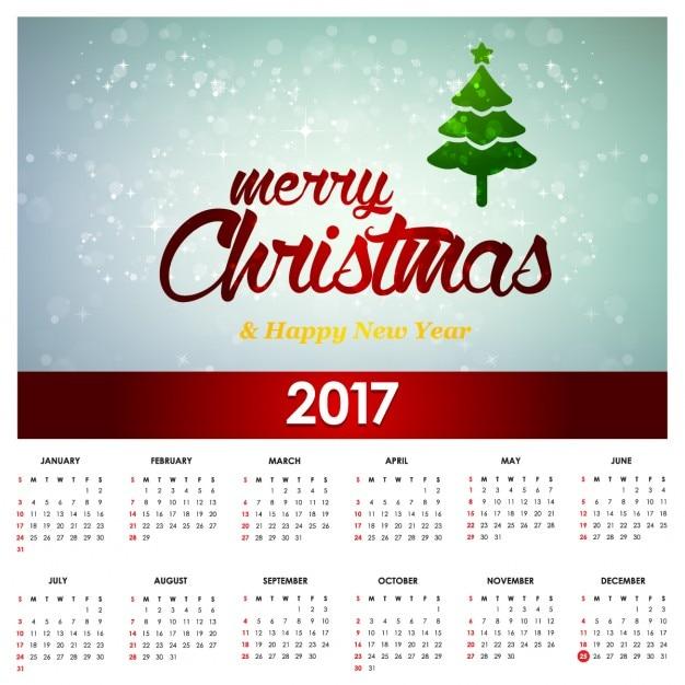 Christmas Calendar 2017 : Cute christmas calendar vector free download