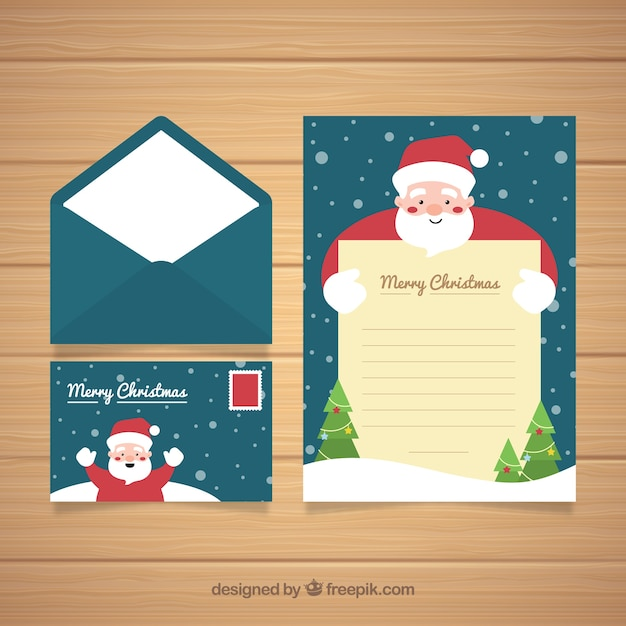 Cute christmas card with envelope vector free download cute christmas card with envelope free vector m4hsunfo