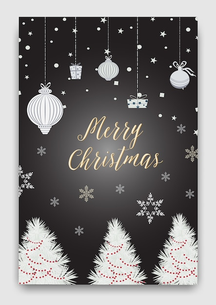 Cute Christmas cards vector Vector | Premium Download