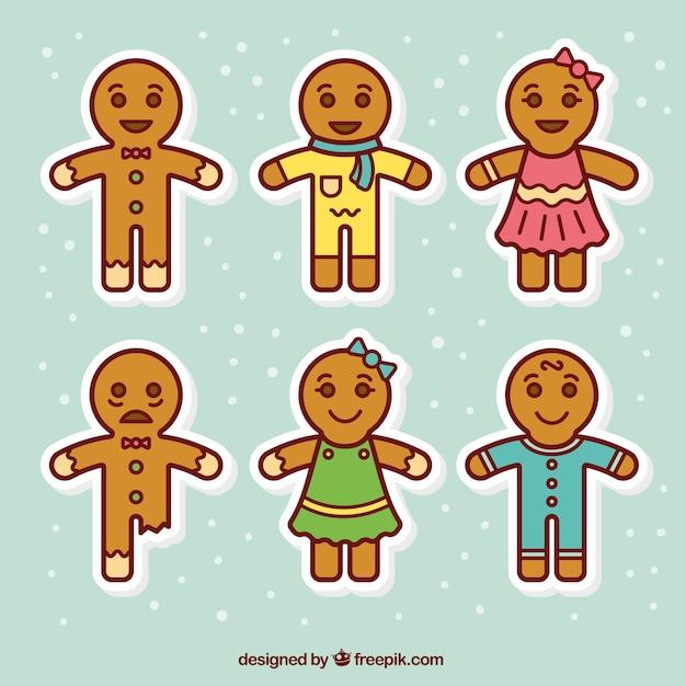 cute christmas cookies free vector