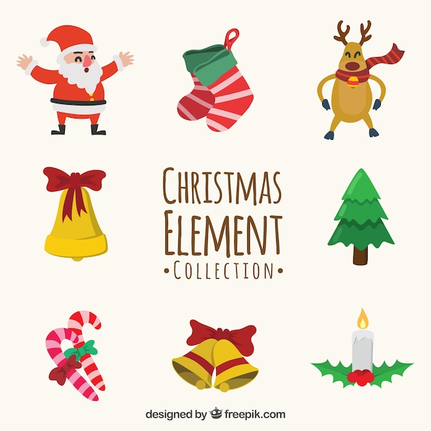 Cute christmas element collection