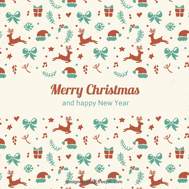 Christmas Backgrounds Cute.Cute Christmas Elements Background Vector Free Download