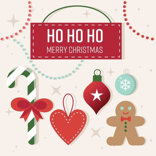 cute christmas greeting card free vector - Christmas Blessings For Cards