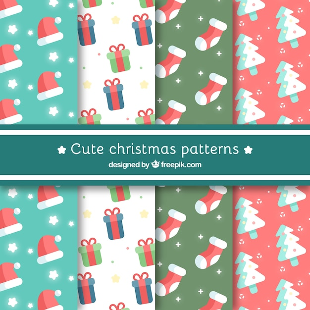 Cute christmas patterns collection