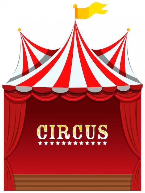 A cute circus on white Free Vector