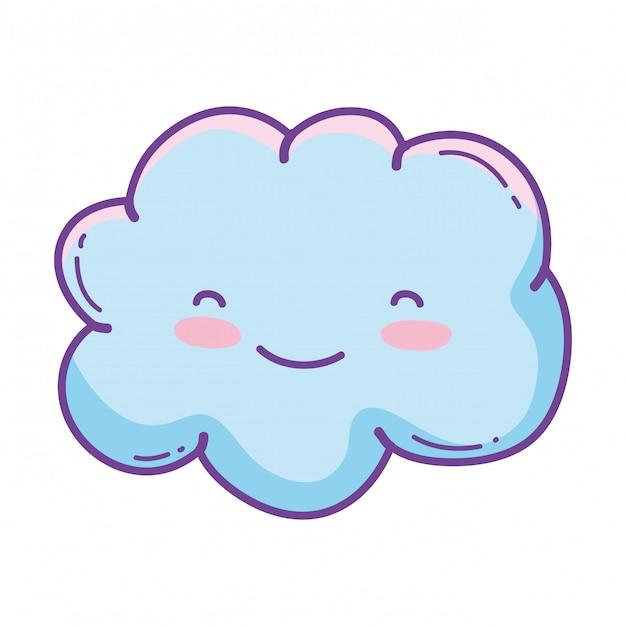 Cute cloud cartoon Vector | Premium Download