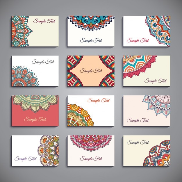 Cute collection of business cards in boho style vector free download cute collection of business cards in boho style free vector accmission Choice Image