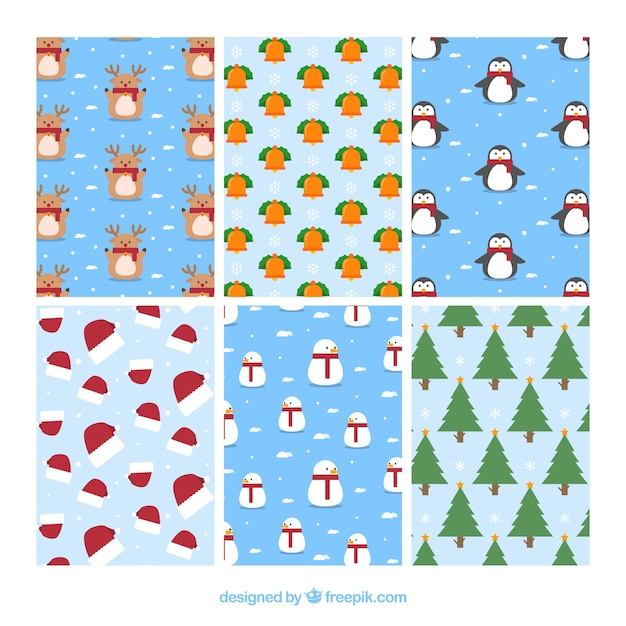 Cute collection of christmas patterns