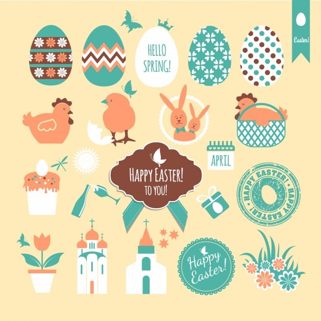Cute collection of easter badges