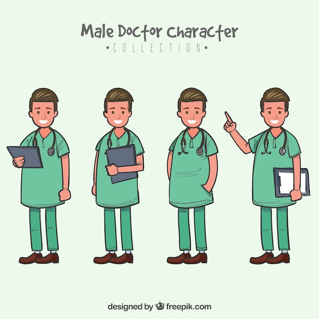 Cute collection of smiley doctor