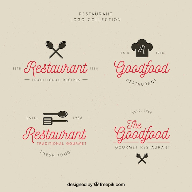 Cute collection of vintage restaurant logos