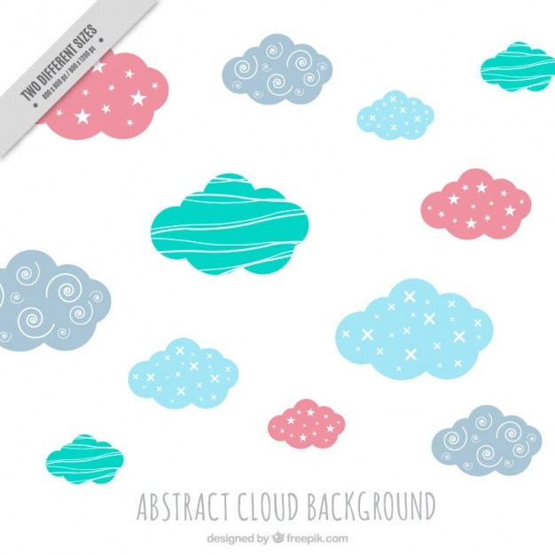 Cute background vectors photos and psd files free download cute colored clouds background with abstract shapes voltagebd Choice Image