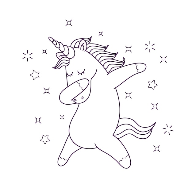 - Premium Vector Cute Coloring For Kids With Unicorn Character