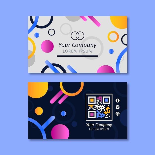 Симпатичный шаблон горизонтальной визитки компании Premium векторы