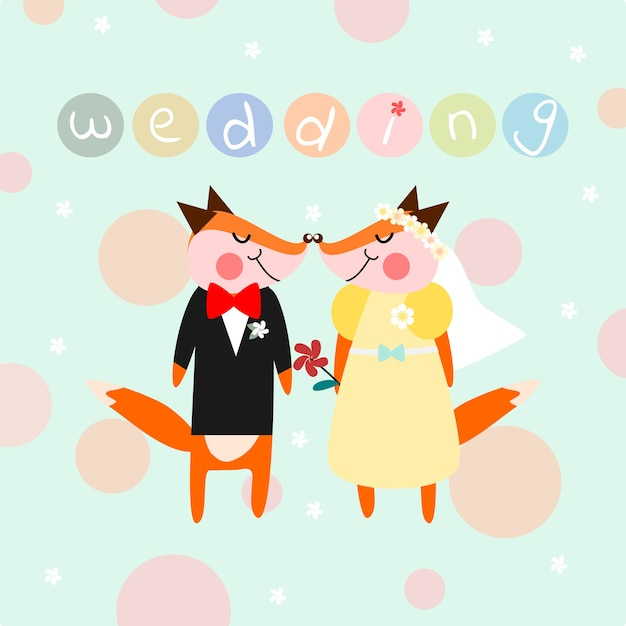 Cute couple fox for wedding theme background vector premium download cute couple fox for wedding theme background premium vector junglespirit Gallery