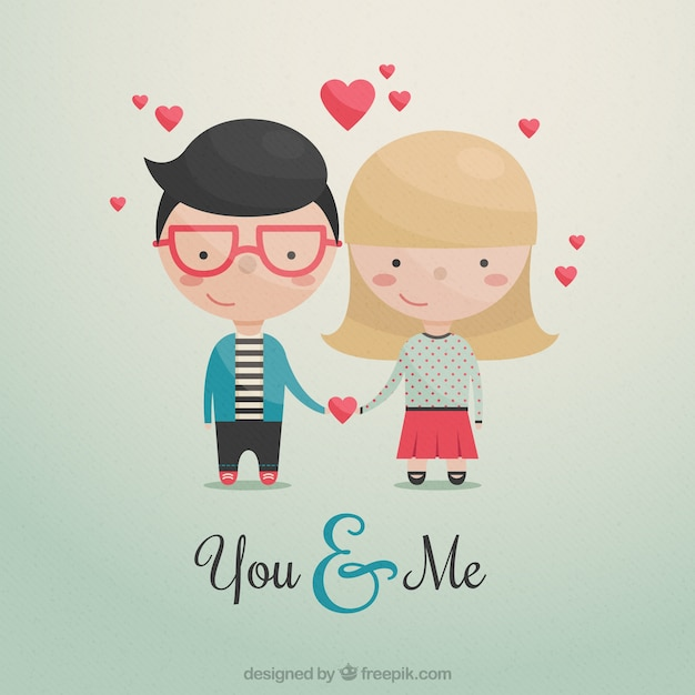 131c23f143 Cute couple in love Vector | Free Download