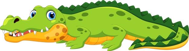 Милый мультфильм крокодила Premium векторы