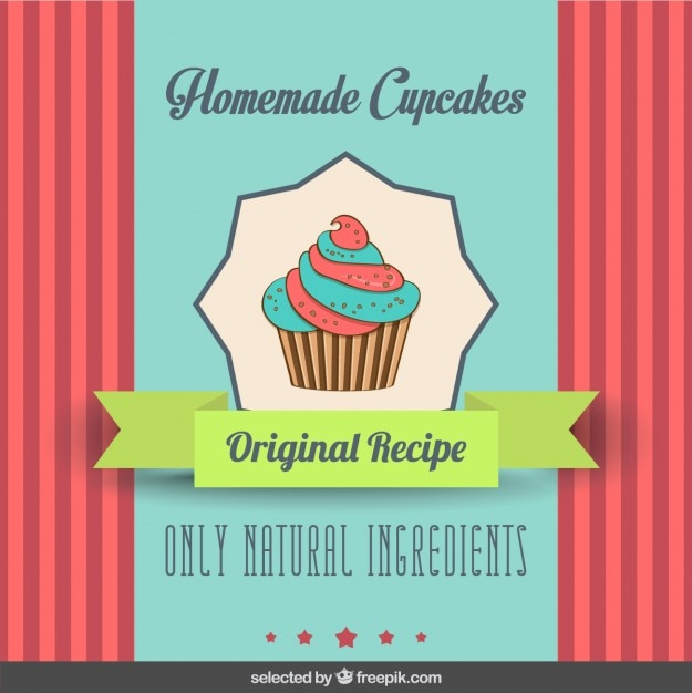 Cute cupcake flyer Vector | Free Download
