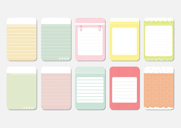 Cute Daily Planner Template Vector