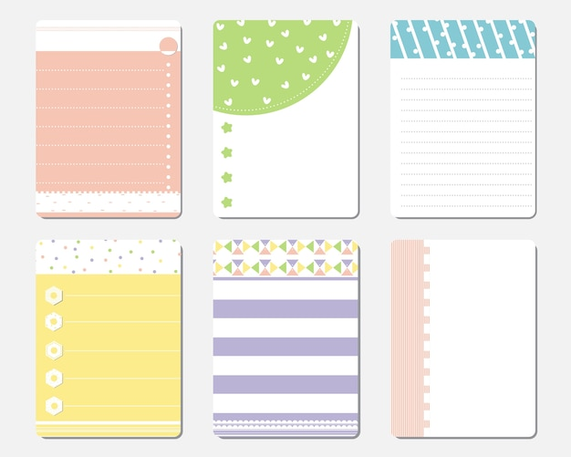 Cute Daily Planner Template Premium Vector