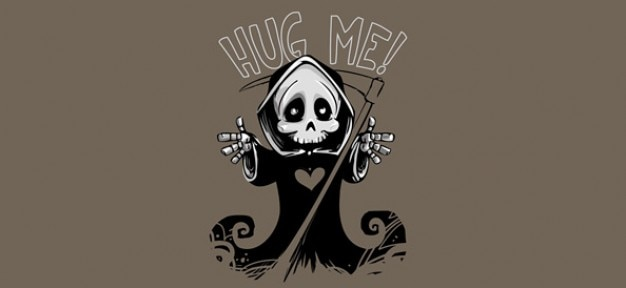 Cute Death Mascot Grim Reaper Vector Free Download