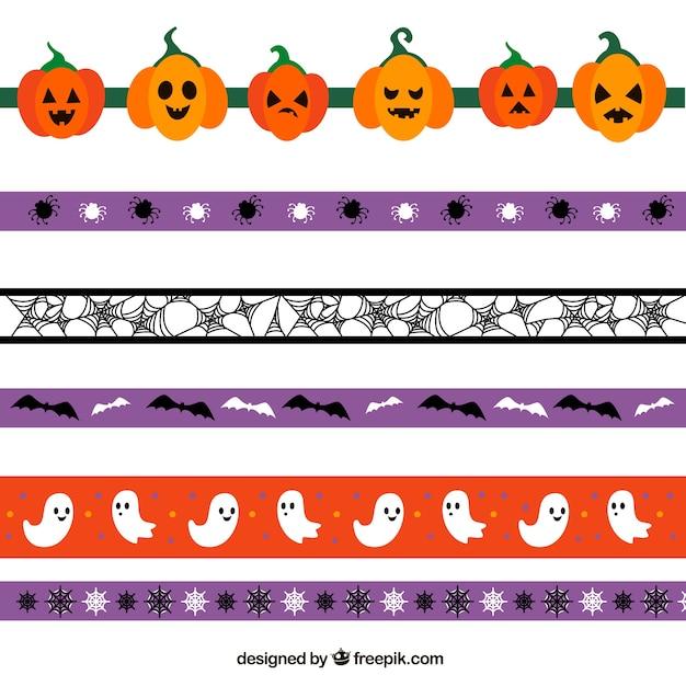Cute decorative halloween borders