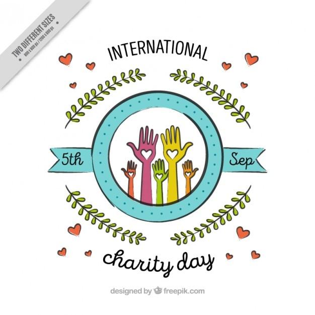 cute decorative international charity day background