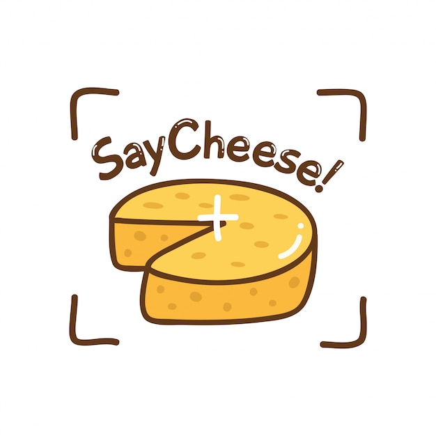 Cute design with cheese Premium Vector