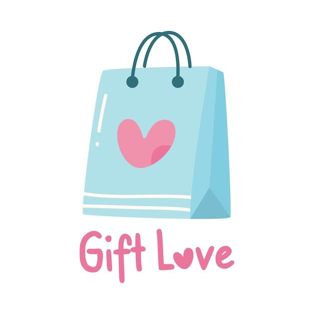 Cute design with gift bag Premium Vector